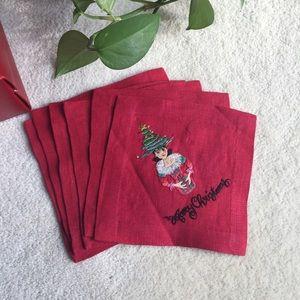 Holiday Linen Napkins by Kim Seybert NYC  Set of 6